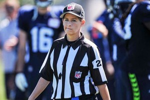 Shannon Eastin will be a long way from her usual place as a referee in the Mid-Eastern Athletic Conference when she serves as the line judge for the Packers-Chargers preseason game on Thursday.