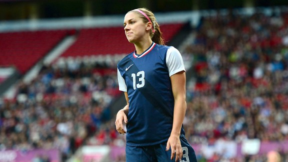 Forward Alex Morgan helped defeat Japan at the Olympics this summer.