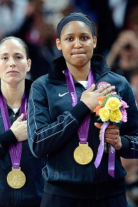 Sue Bird and Maya Moore helped the U.S. women win their 41st consecutive Olympics game.