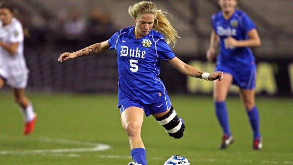 Kaitlyn Kerr's near full-length brace has become as permanent a fixture on the field as her Duke jersey.