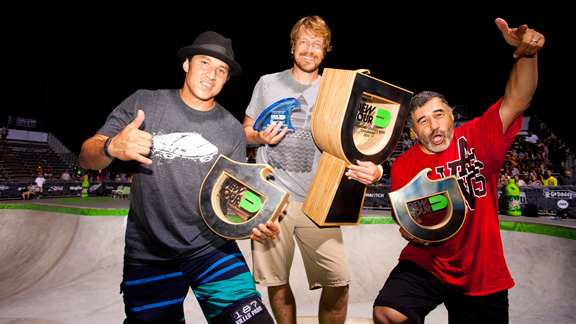 From left to right: Christian Hosoi, Chris Miller and Steve Caballero.