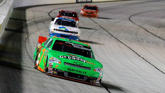 Danica Patrick finished 13th Saturday in her first stock car race at Atlanta; she'll try it again Sunday in the Cup race.