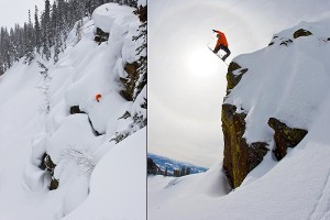 Just a mellow day riding in the Jackson backcountry that is Iguchi's backyard