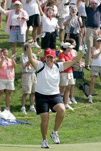 As a player, Mallon had a record of 13-9-7 in eight Solheim Cup appearances. She also was an assistant captain in 2009.