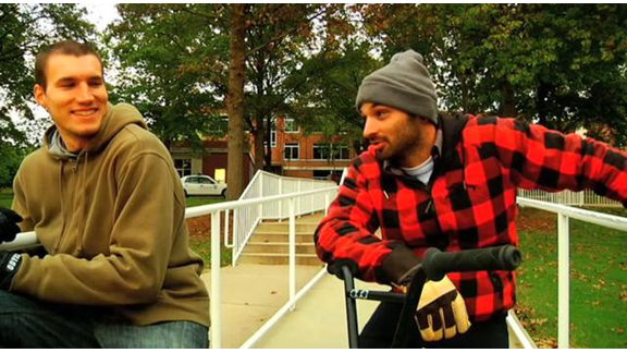 Steve Debusk and Corey Martinez while filming for This is United in the fall of 2009.