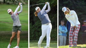 The major winners thus far this year are, from left: Sun Young Yoo, Kraft Nabisco; Shanshan Feng, LPGA Championship and Na Yeon Choi, U.S. Women's Open.