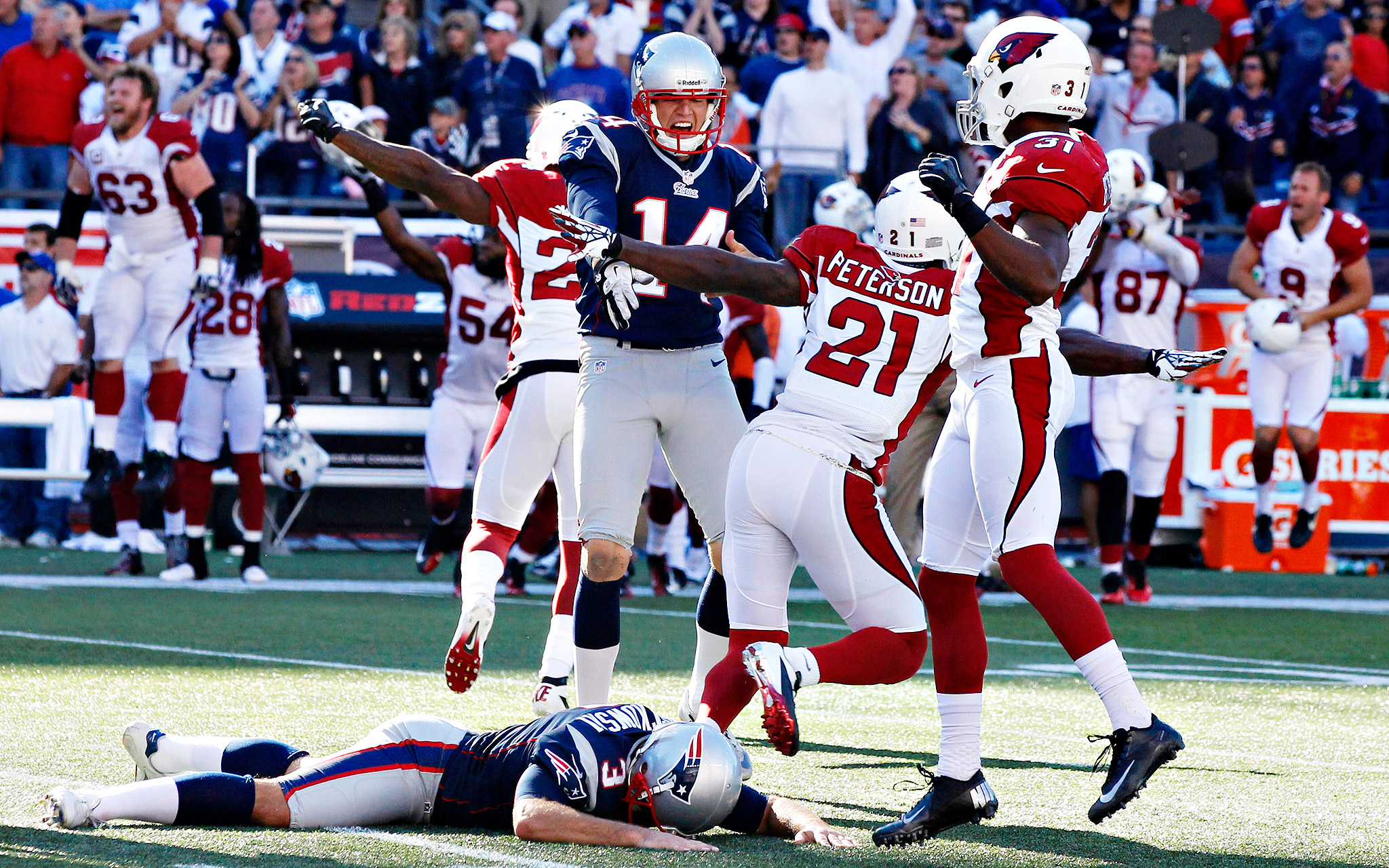 Week 2: Cardinals 20, Patriots 18