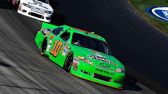 Danica Patrick followed a 16th-place finish in Saturday's Nationwide race with a 28th-place finish in Sunday's Sprint Cup.