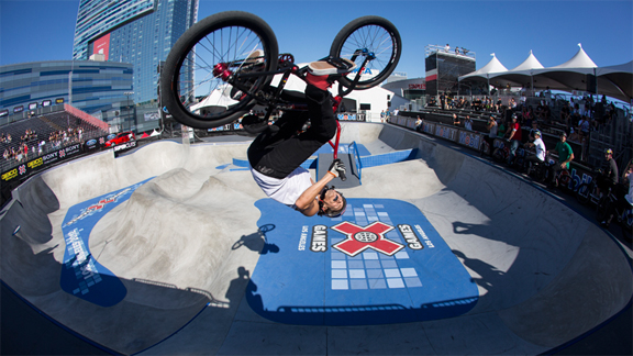 Daniel Dhers prior to his crash at X Games Los Angeles in June.