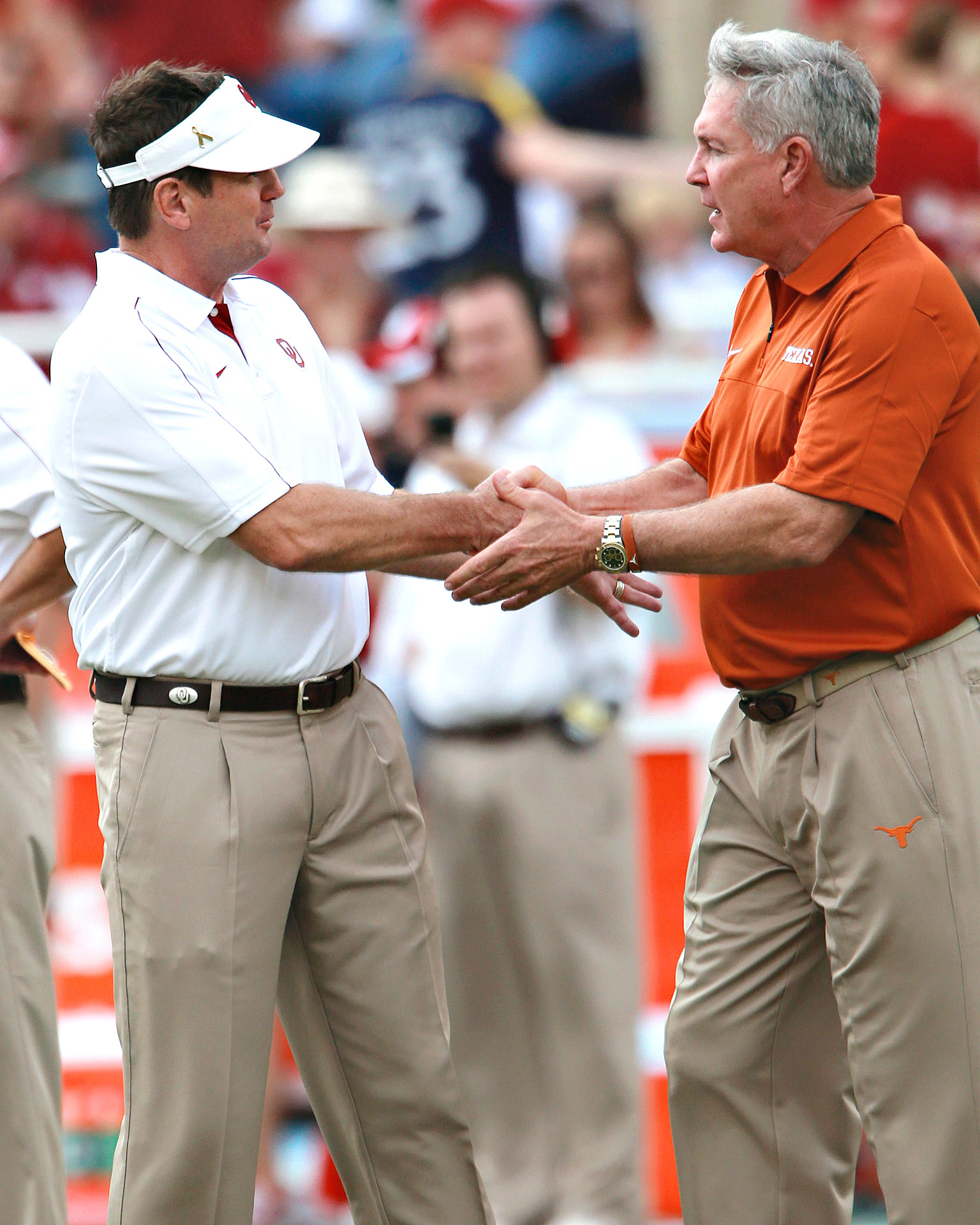 Bob Stoops, Mack Brown