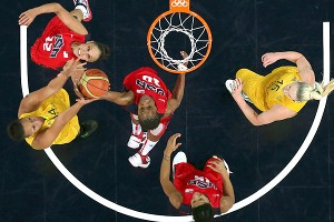 Even at the Olympics, much of the action around the rim is not at rim level.