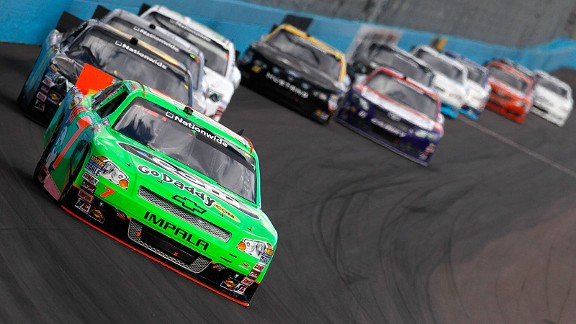 In the last four Nationwide races, Danica Patrick has finished 10th twice, 11th and 14th.