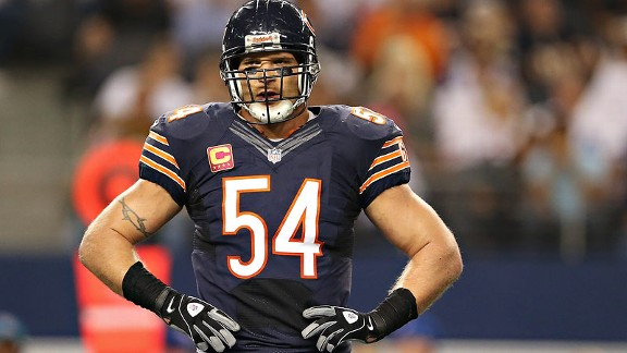 Danica Patrick's love of the Bears could be a jumping off point for a relationship with team captain Brian Urlacher.