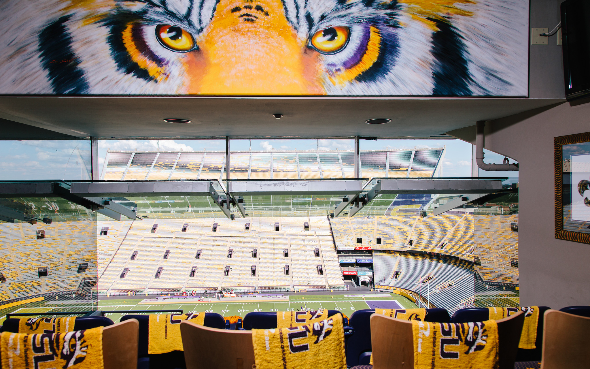 A suite view in Tiger Stadium
