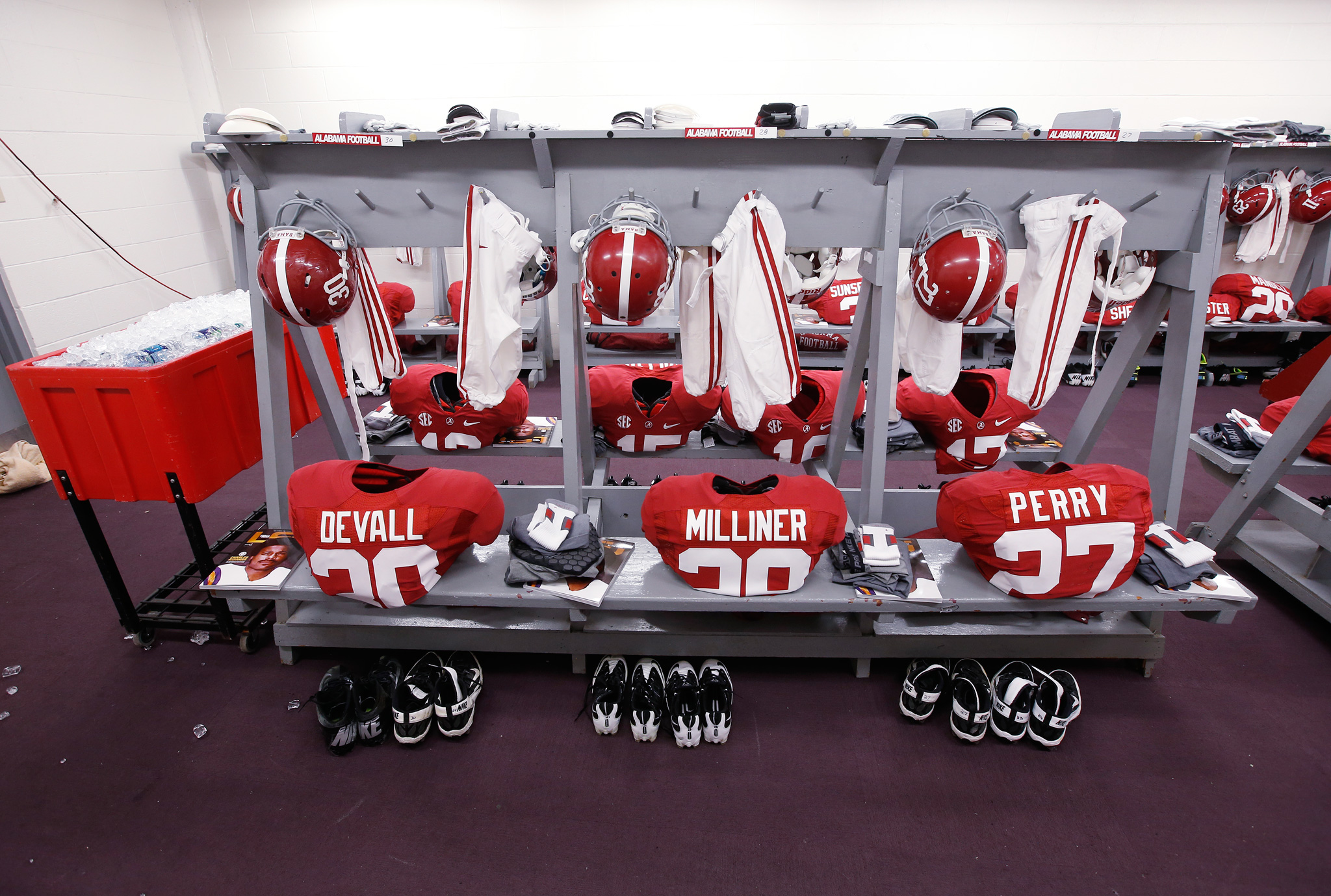 Tiger Stadium's Vistor's locker room