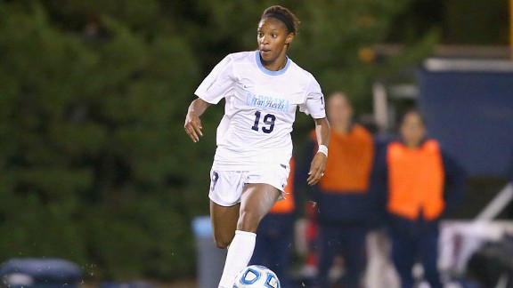 Crystal Dunn filled in at center back earlier this year but has returned to attacking center midfielder for the postseason and scored five goals in four games.