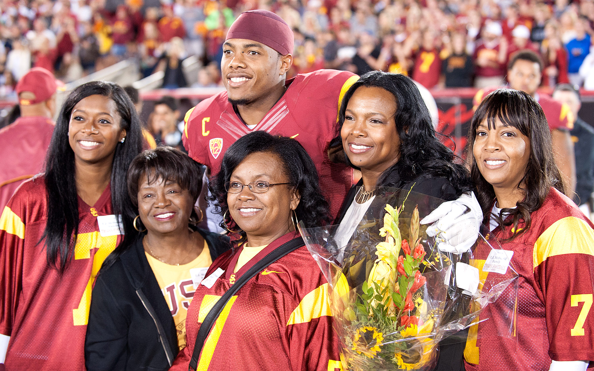 T.J. McDonald and family