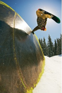 If your local terrain park has a wall ride in it, there's a good chance Bridges has handplanted it.
