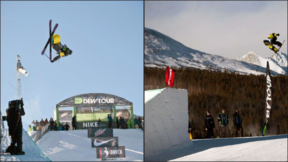 Gus Kenworthy (left) and Torstein Horgmo at the Dew Tour Breckenridge.