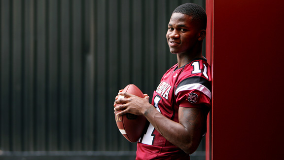 Kenny McKinley, shown here in 2008, shared big NFL dreams with roommates and teammates Carlos Thomas and O.J. Murdock.