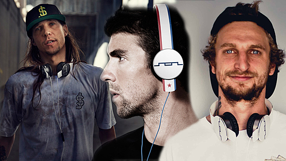 Erik Ellington rocks his SOL Republic's along with Michael Phelps and Lizard King.