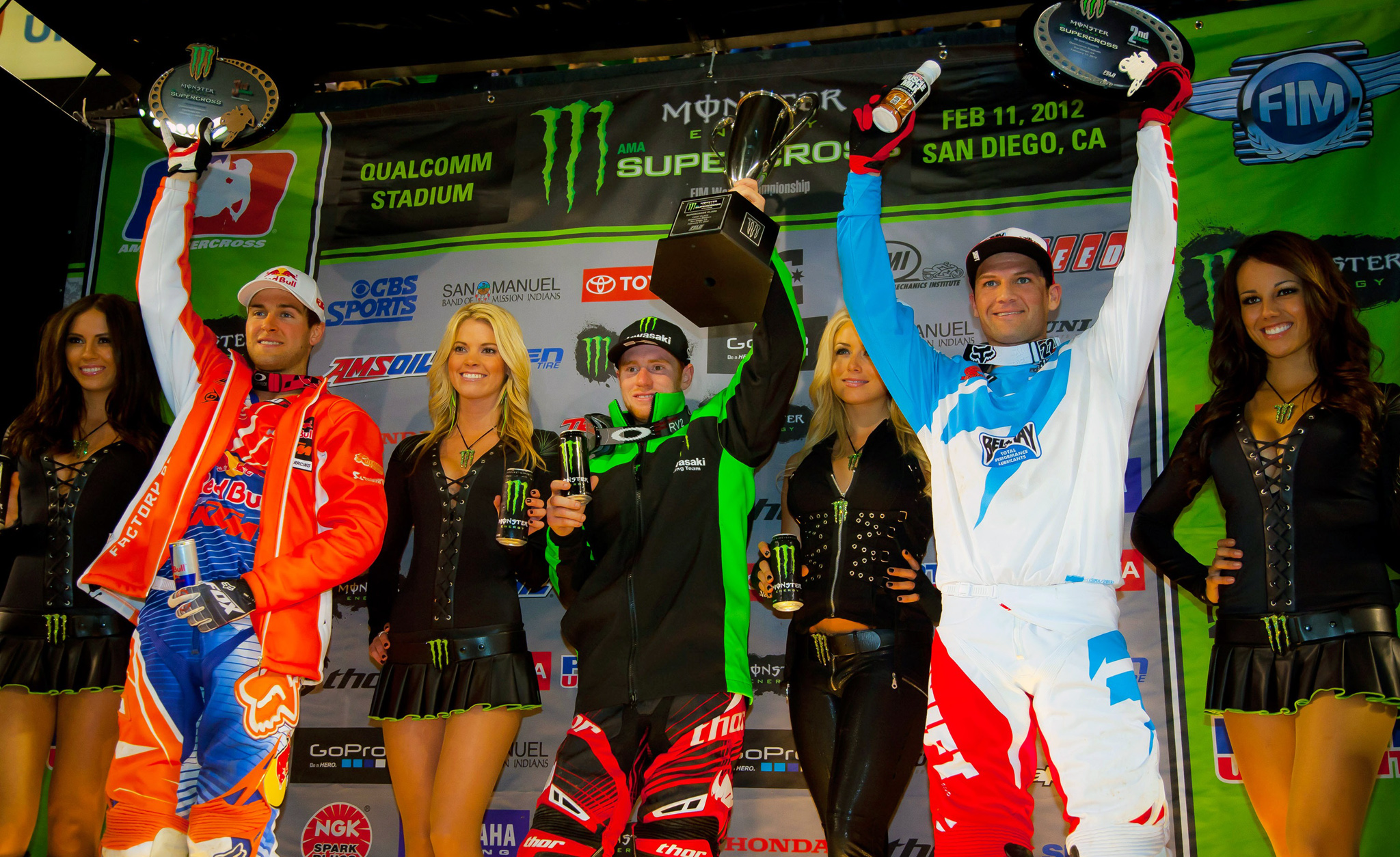 Ryan Dungey, Ryan Villopoto, Chad Reed