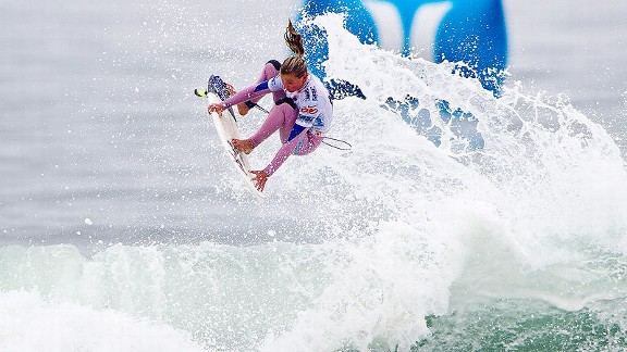 Lakey Peterson's mother is hopeful her daughter can revolutionize women's surfing with her high-flying style.