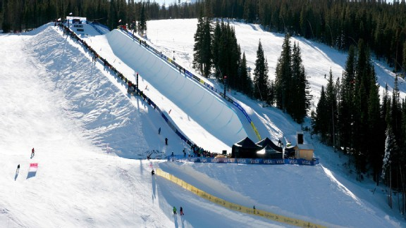 The U.S. Grand Prix halfpipe at Copper Mountain, Colo.