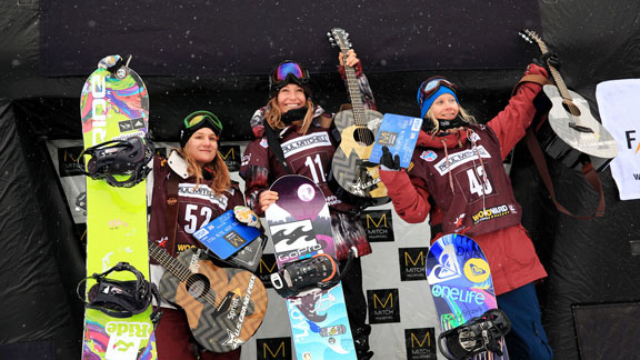 American Jamie Anderson continued her dominance in women's slopestyle.