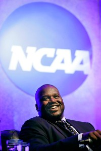 Speaking at the NCAA convention on Wednesday, Shaquille O'Neal said he understands why college basketball players leave school early, but if it was up to him, the rule would probably say three-and-done.