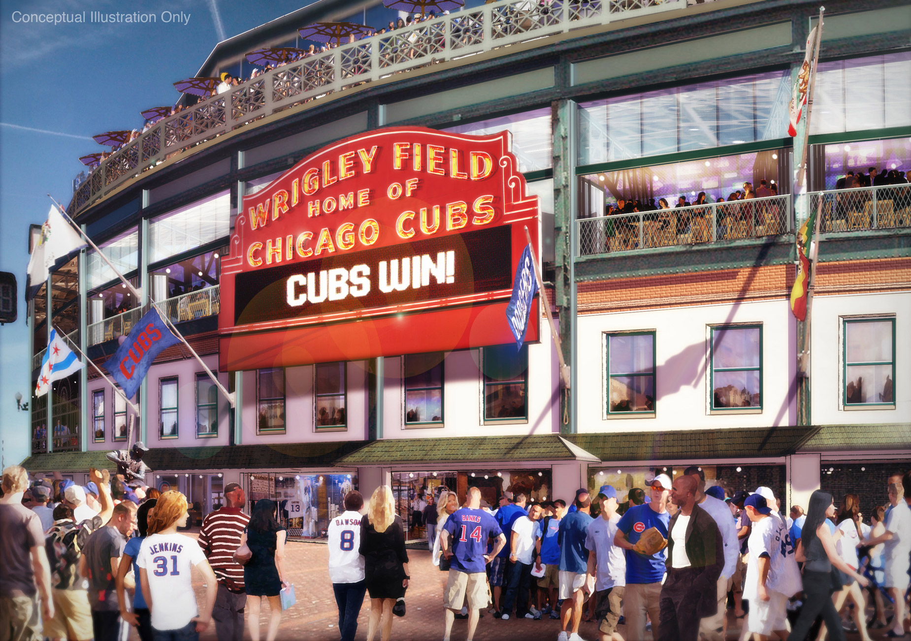 Wrigley Renderings - Marquee View