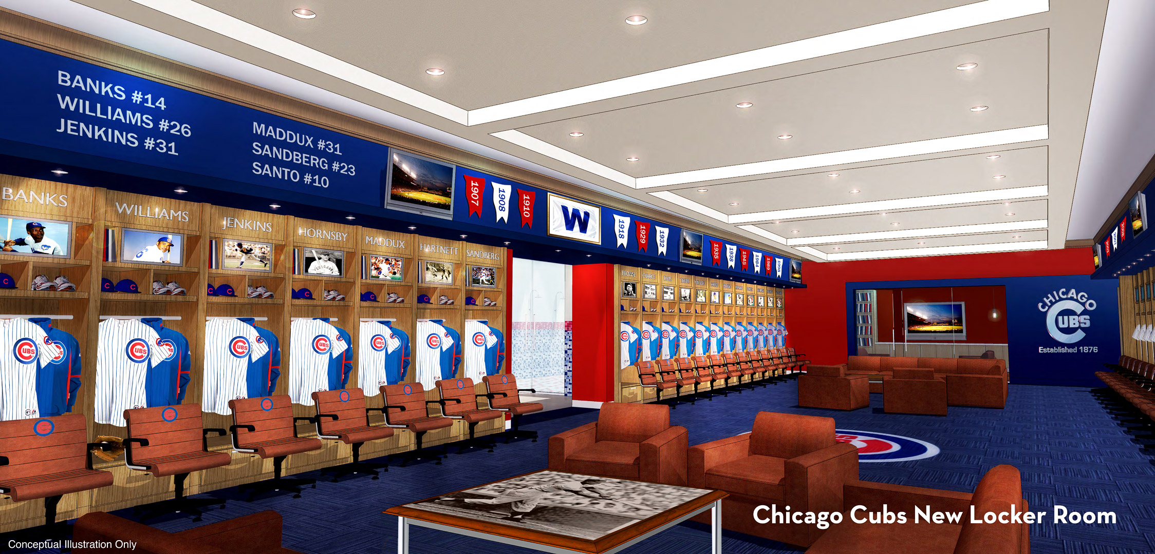 Wrigley Renderings - Cubs locker room