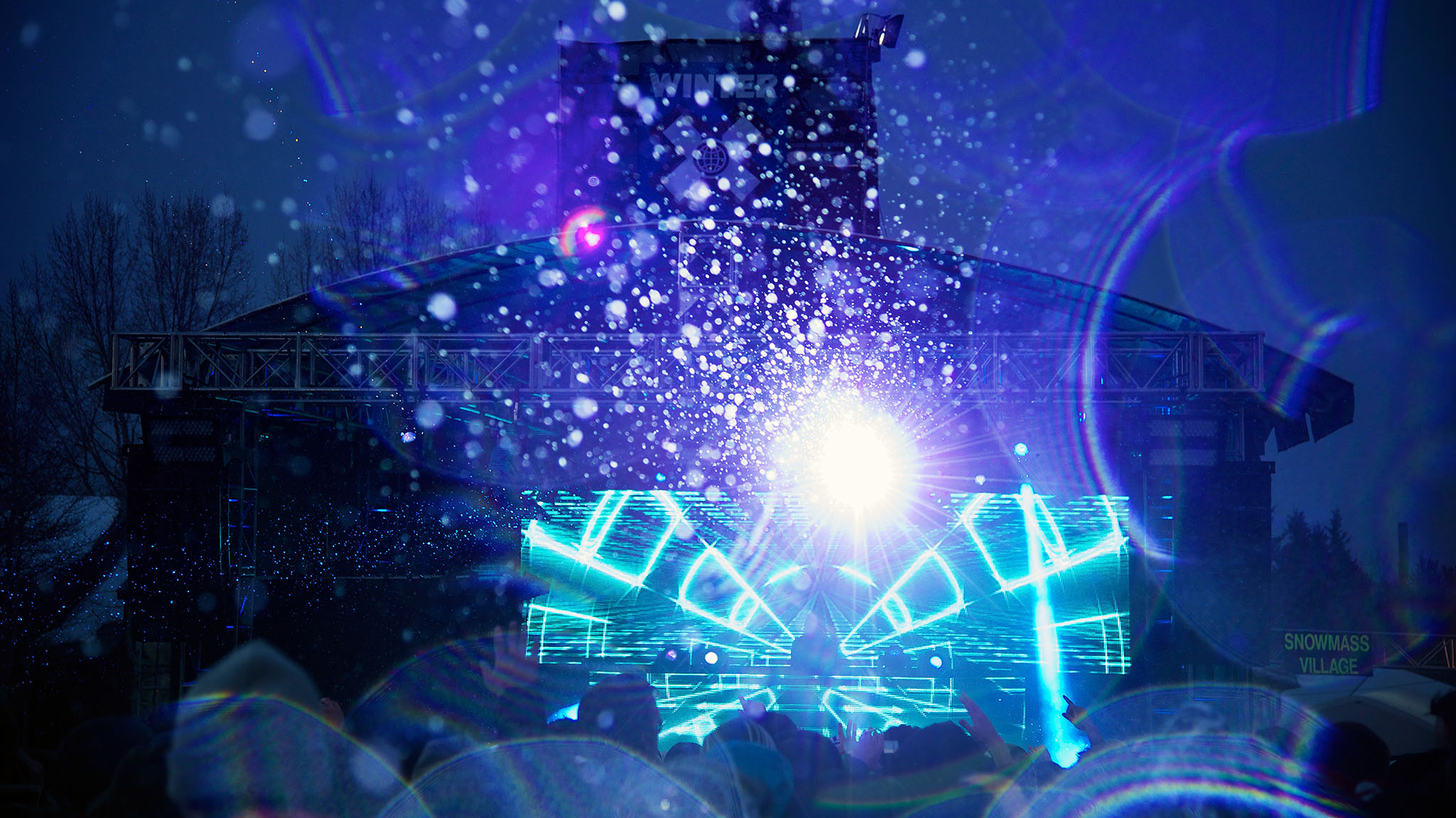 Calvin Harris' stage setup for his X Games MUSIC show at Buttermilk brought another dimension to the concert.