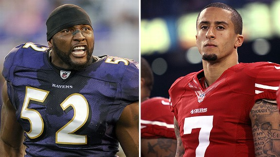 The Ravens have the emotion of Ray Lewis in Super Bowl XLVII, but the 49ers have the electricity of Colin Kaepernick.