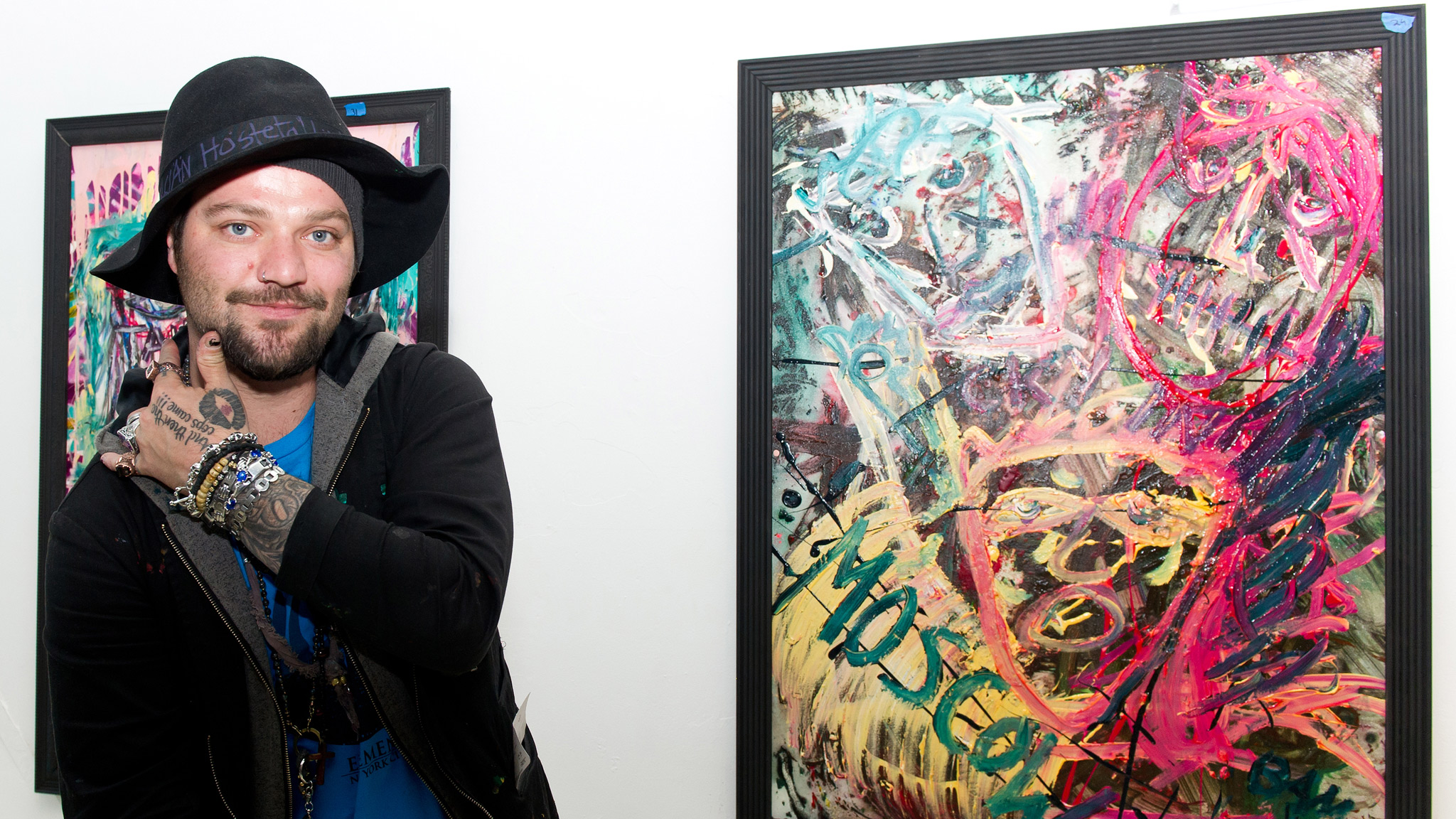 Man of many hats: Bam at the Bam Margera & Friends art-exhibit opening at The James Oliver Gallery last April in Philly. He's just been greenlighted to film a new reality-style TV game show for 2014.