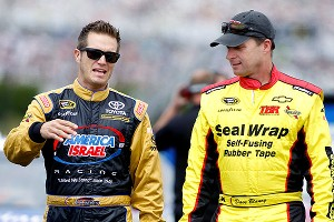 J.J. Yeley, left, and Dave Blaney have ridden the start-and-park wave, but with more sponsorship behind them this year, thay may be staying in races longer.
