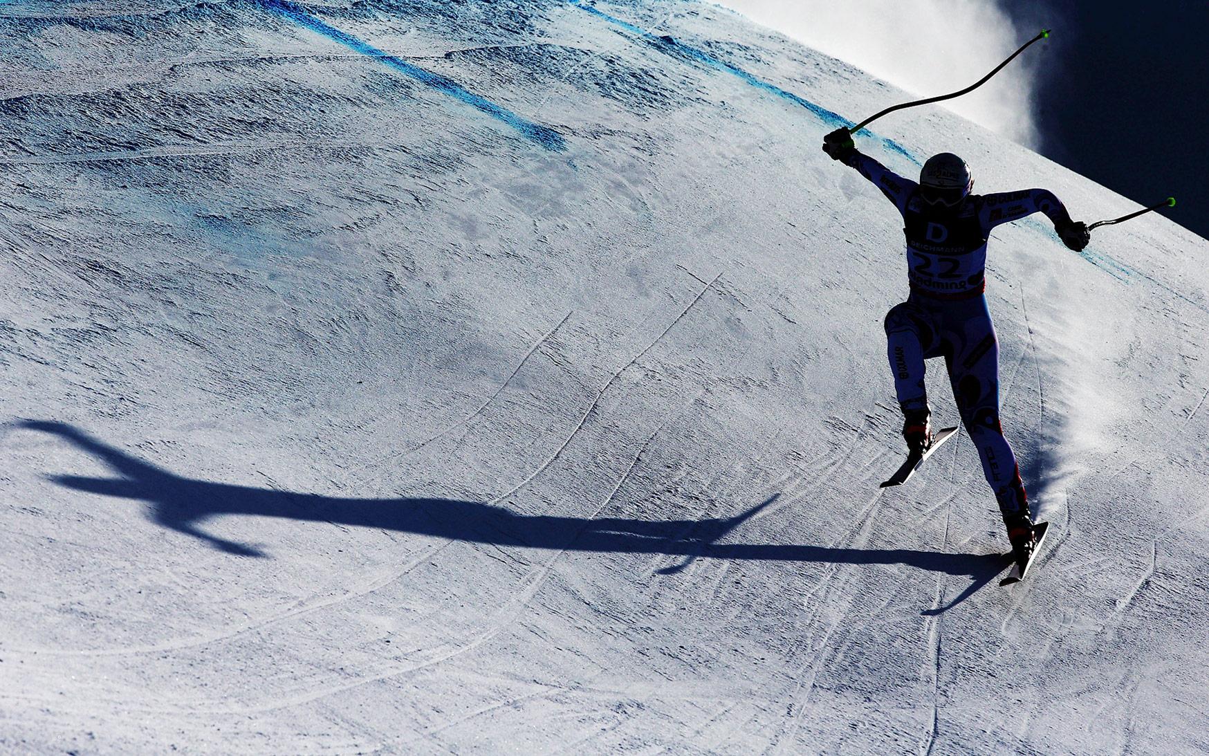 Skiing shadows