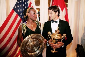 Venus Williams and Roger Federer