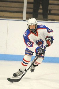 Keegan Heher skates for the Colonials, who have not only survived but thrived in playing against boys.