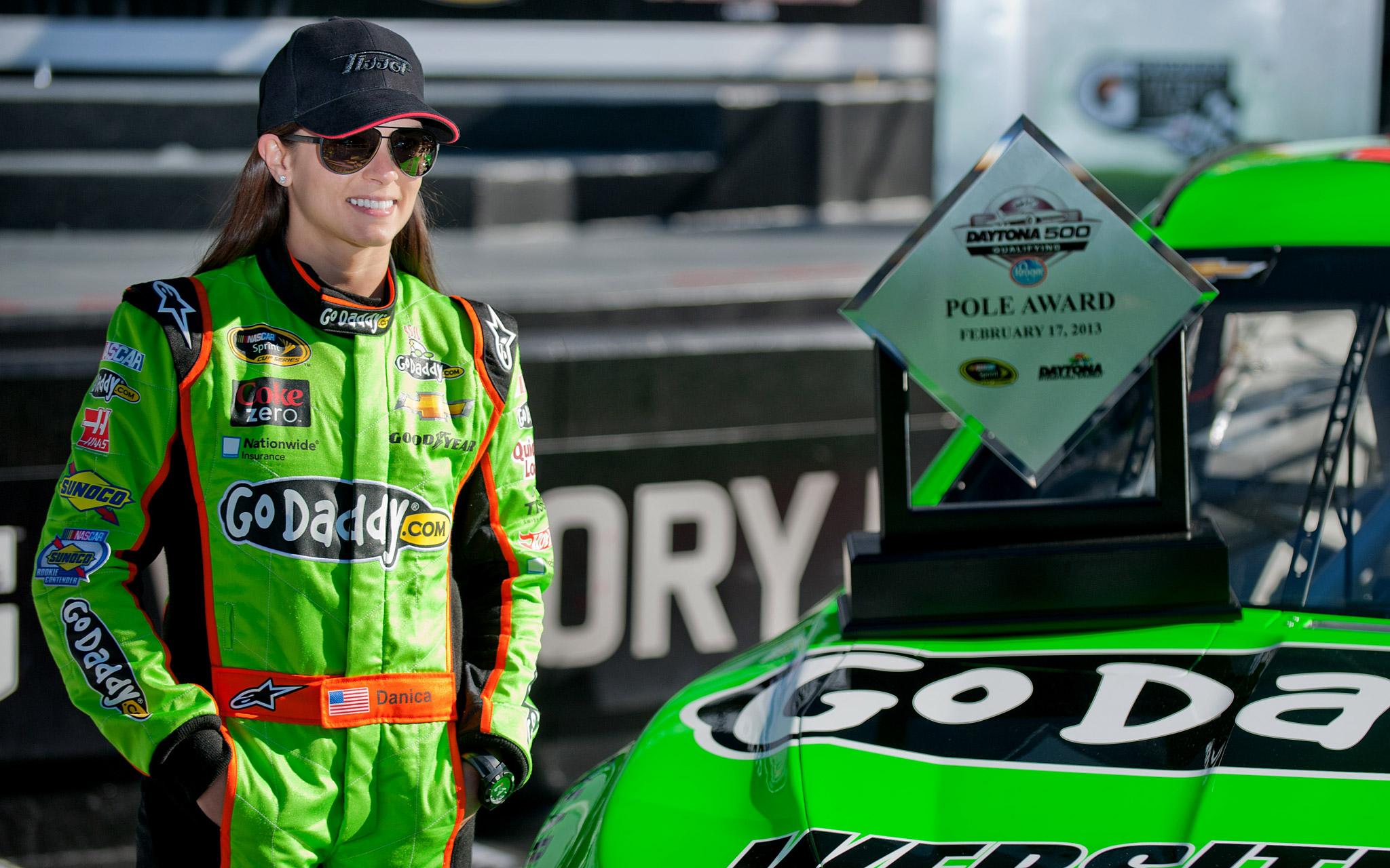 Danica Patrick wins pole