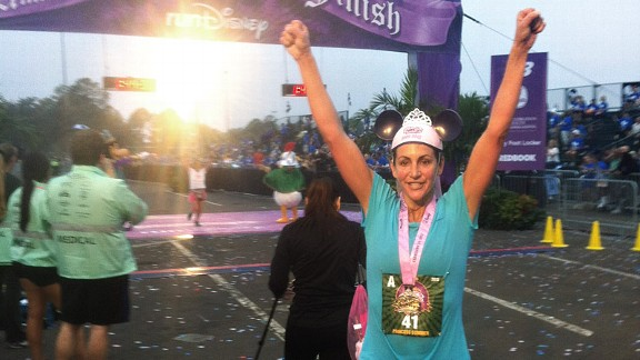 Summer Sanders finished the Disney's Princess Half Marathon in 1:43:31. Next up? Boston.