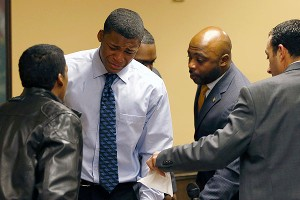 Ma'Lik Richmond broke down in tears after Sunday's verdict was read in court. He and fellow Steubenville student Trent Mays were sentenced to at least a year in juvenile jail.