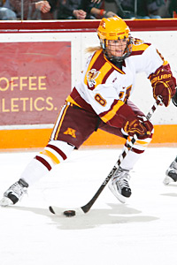 Amanda Kessel needs three points to record the fourth 100-point season in NCAA womens hockey history.