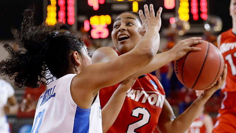 Amber Deane (pictured) and the Flyers started the season ranked No. 14 in the country but are now trying to hang on to a winning record heading into Atlantic 10 play. Dayton went through a tough stretch, losing four of five games (two of those in overtime) before rallying for three straight victories. -- Michelle Smith (Photo: AP Photo/Frank Franklin II)