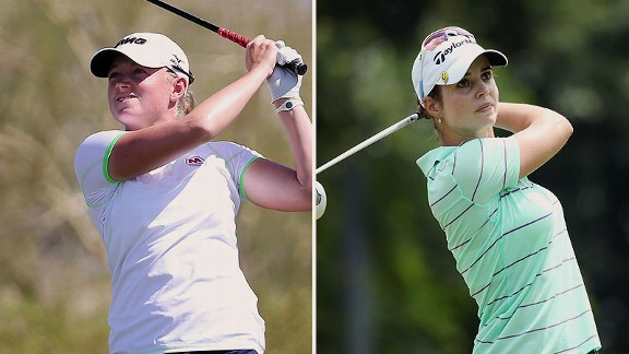 Stacy Lewis and Beatriz Recari