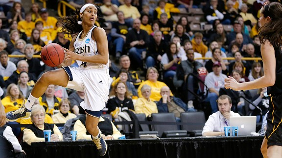 Skylar Diggins and Notre Dame went into a hostile environment at Iowa and won.