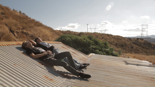 Though the arid suburban setting might suggest Only The Young is just another film about teenage angst, really it's about the enduring power of friendship. Bros Steven Conway and Garrison Saez chill on the roof of their hangout.