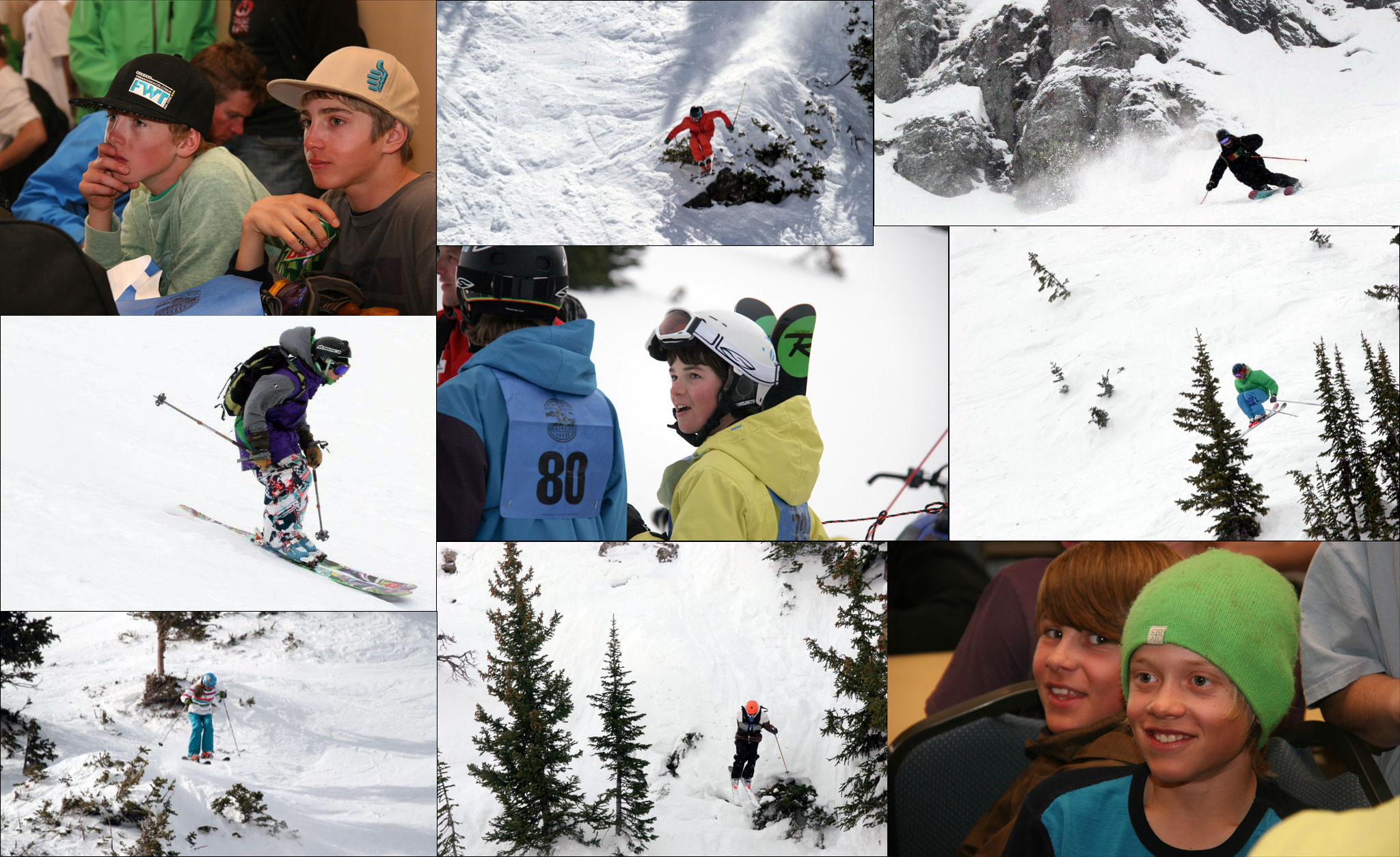 Faces of the Junior Freeride Tour, which ends for the season this weekend at Snowbird, Utah.