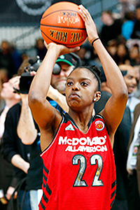 Diamond DeShields and two other North Carolina commits will suit up for the McDonald's All American Games.
