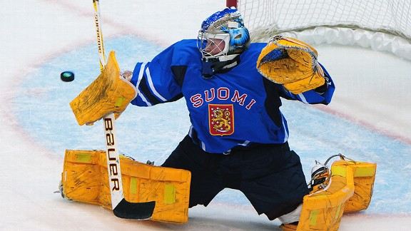 Finland's Noora Raty was also goaltender for the University of Minnesota's national champions.